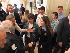 Erin Boyce meets the President.