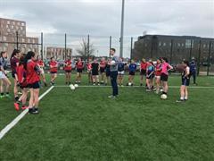 U16/Senior Girls training
